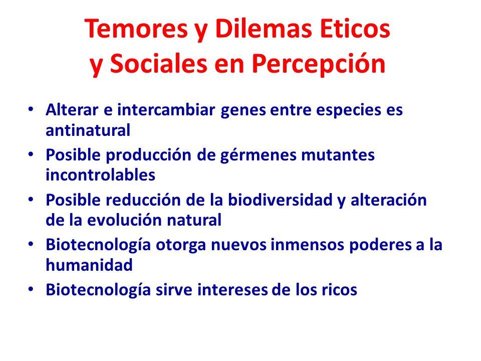 Temores y Dilemas Eticos y Sociales en Percepción