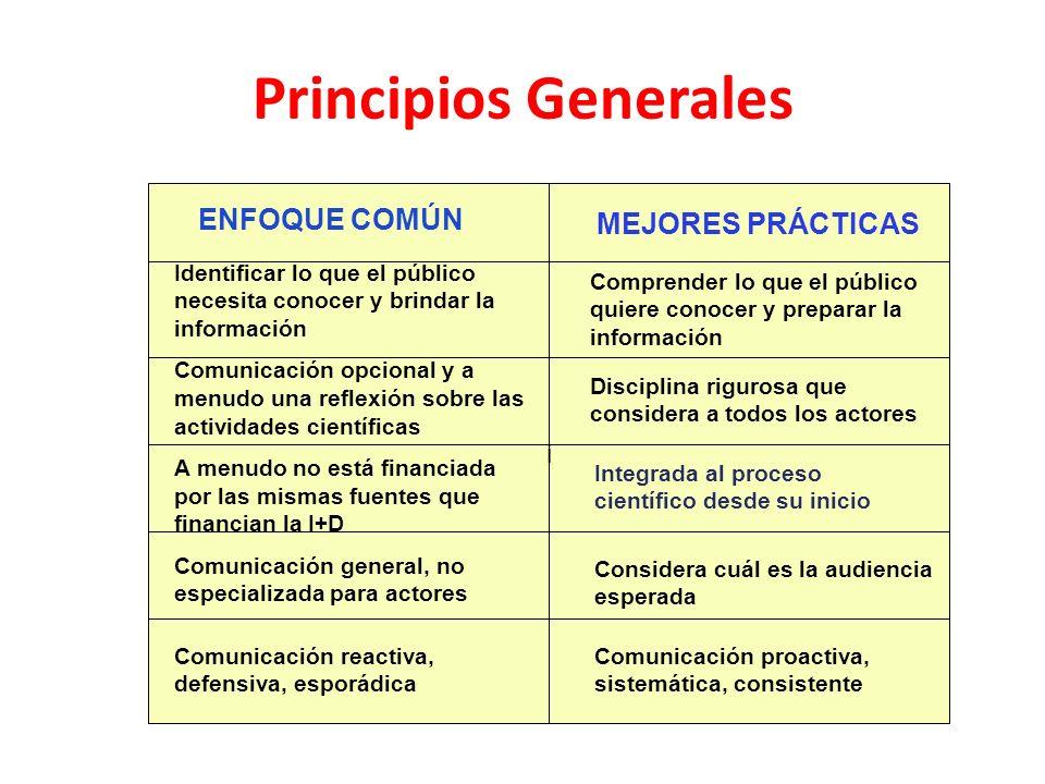 Principios Generales ENFOQUE COMÚN MEJORES PRÁCTICAS i