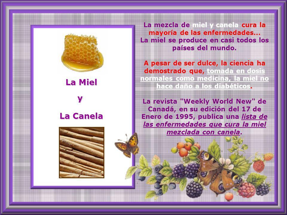 La mezcla de miel y canela cura la mayoría de las enfermedades
