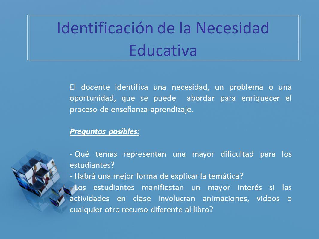 Identificación de la Necesidad Educativa