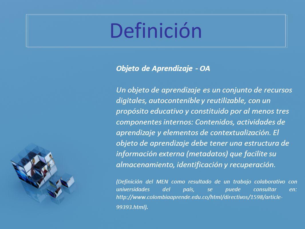 Definición Objeto de Aprendizaje - OA