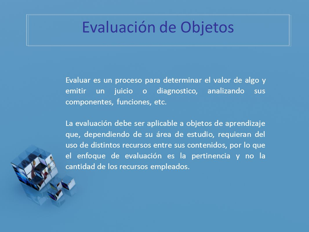 Evaluación de Objetos