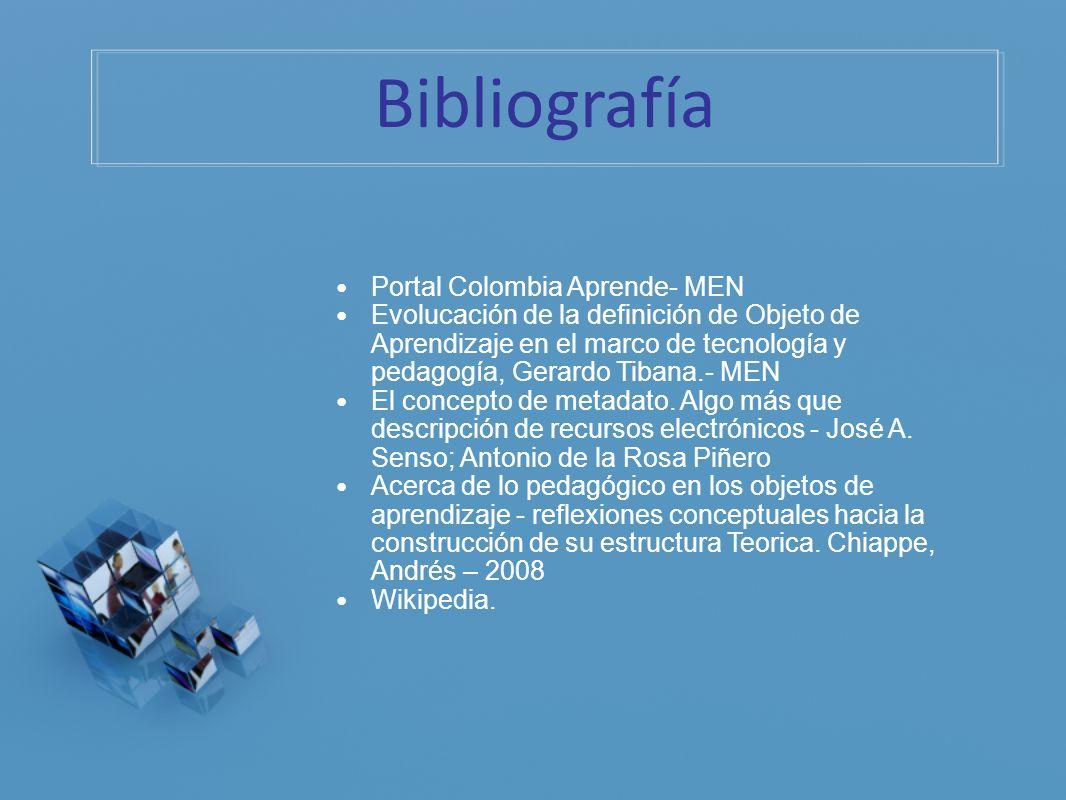 Bibliografía Portal Colombia Aprende- MEN