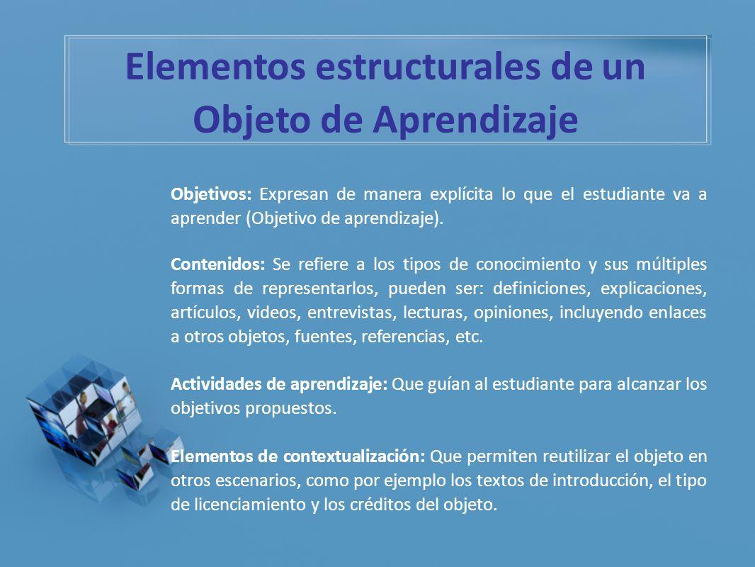 Elementos estructurales de un Objeto de Aprendizaje