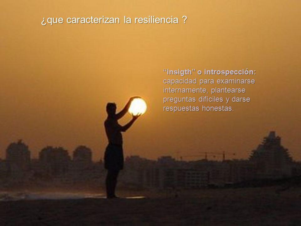 ¿que caracterizan la resiliencia