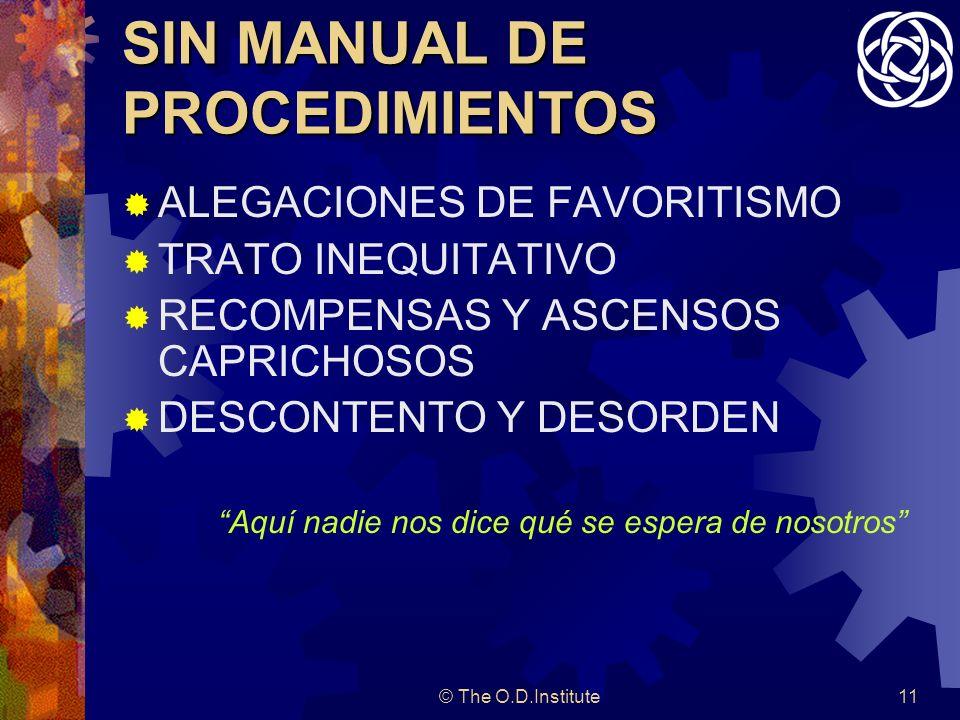 SIN MANUAL DE PROCEDIMIENTOS