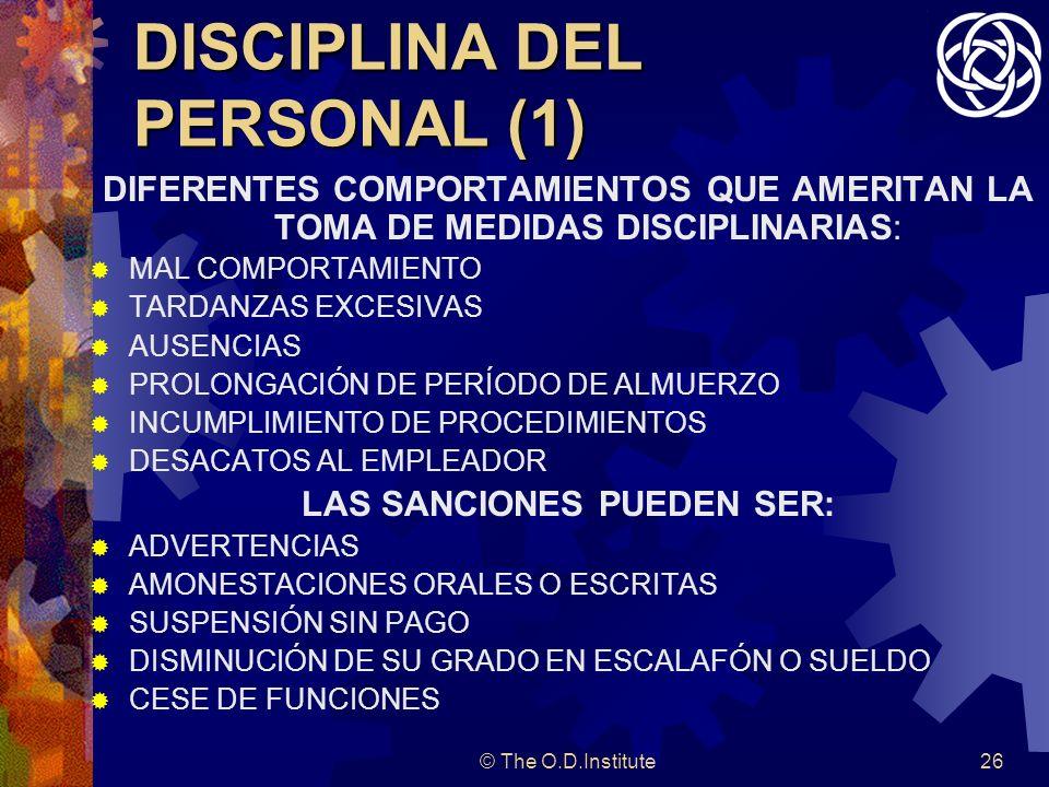 DISCIPLINA DEL PERSONAL (1)