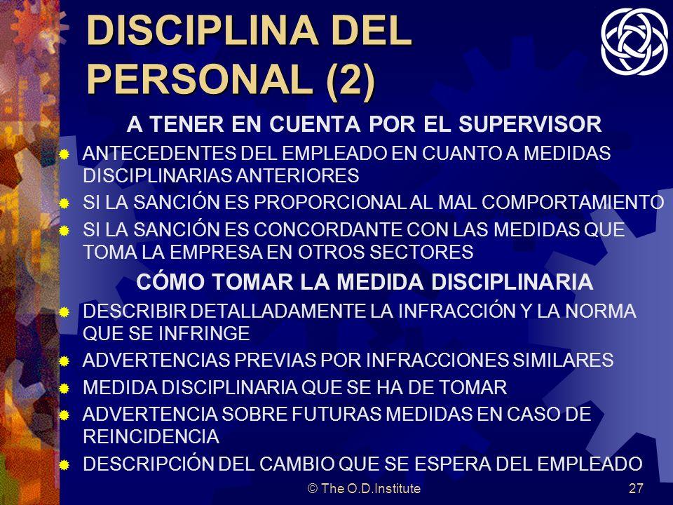 DISCIPLINA DEL PERSONAL (2)