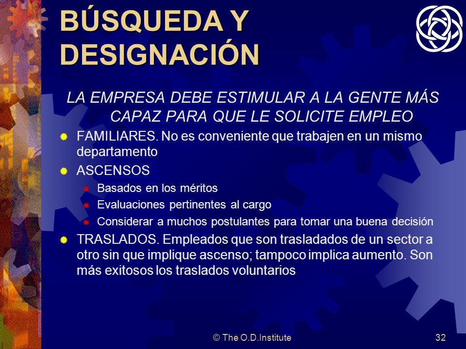 BÚSQUEDA Y DESIGNACIÓN