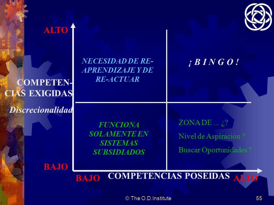 ¡ B I N G O ! COMPETENCIAS POSEIDAS