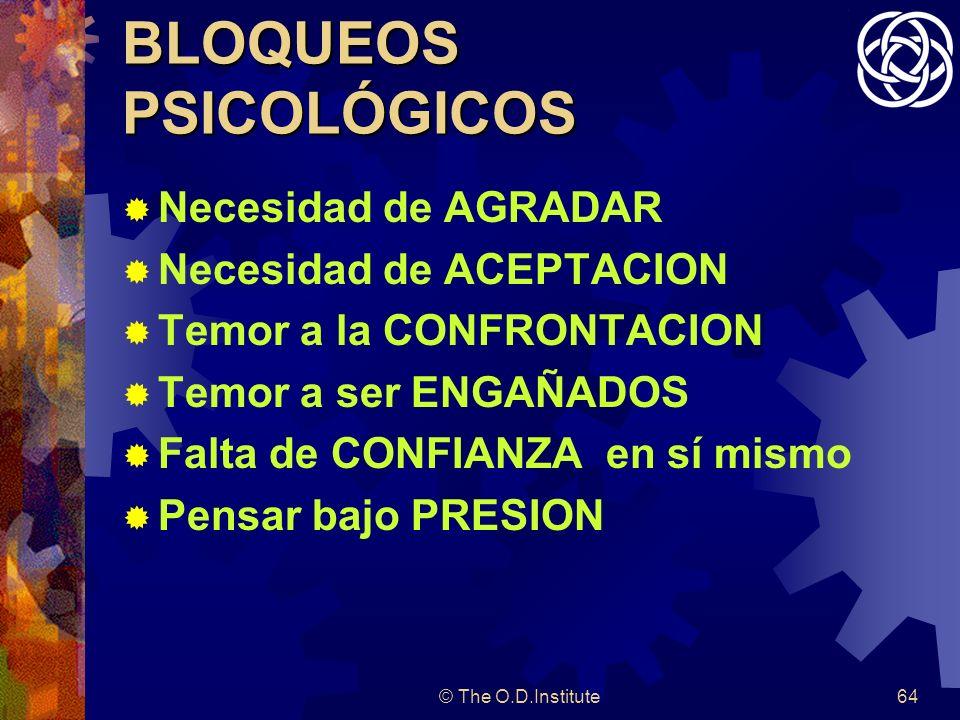 BLOQUEOS PSICOLÓGICOS