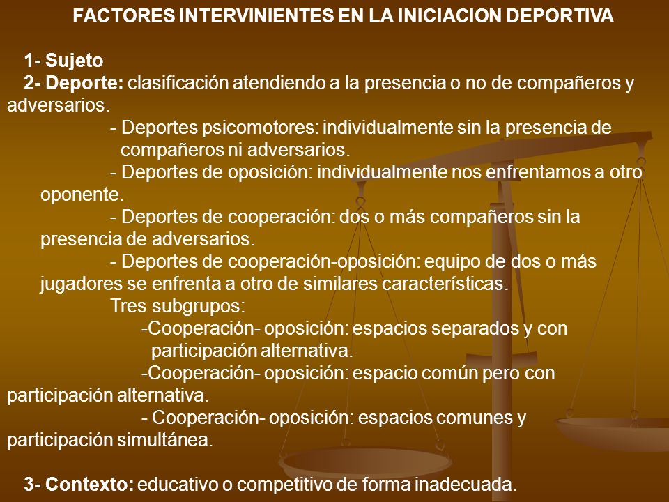 FACTORES INTERVINIENTES EN LA INICIACION DEPORTIVA