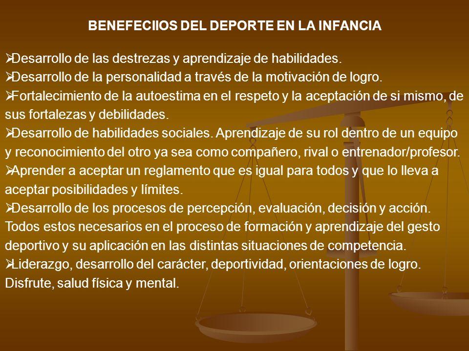 BENEFECIIOS DEL DEPORTE EN LA INFANCIA