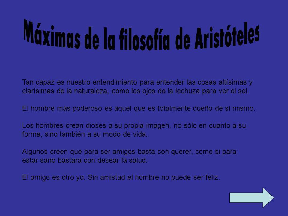 Máximas de la filosofía de Aristóteles