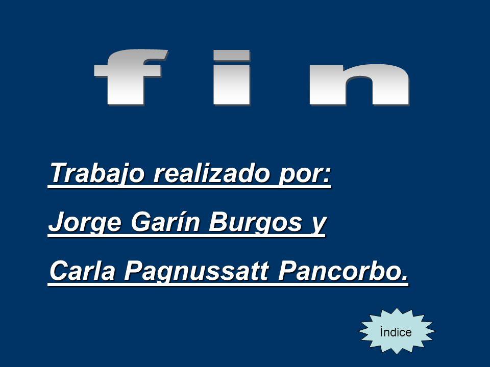 Trabajo realizado por: Jorge Garín Burgos y Carla Pagnussatt Pancorbo.