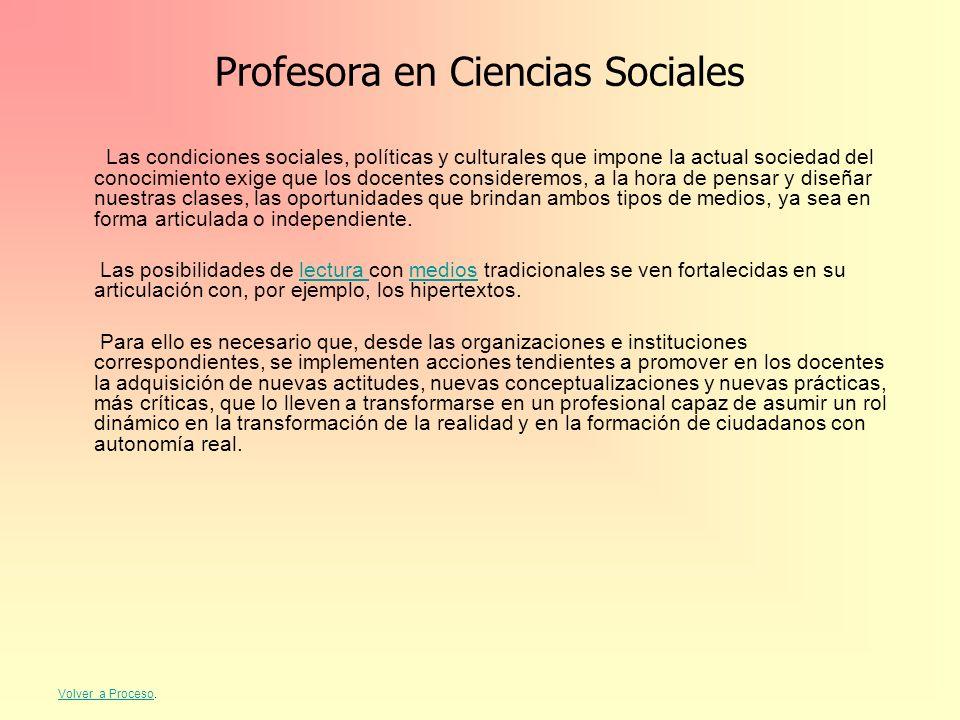 Profesora en Ciencias Sociales