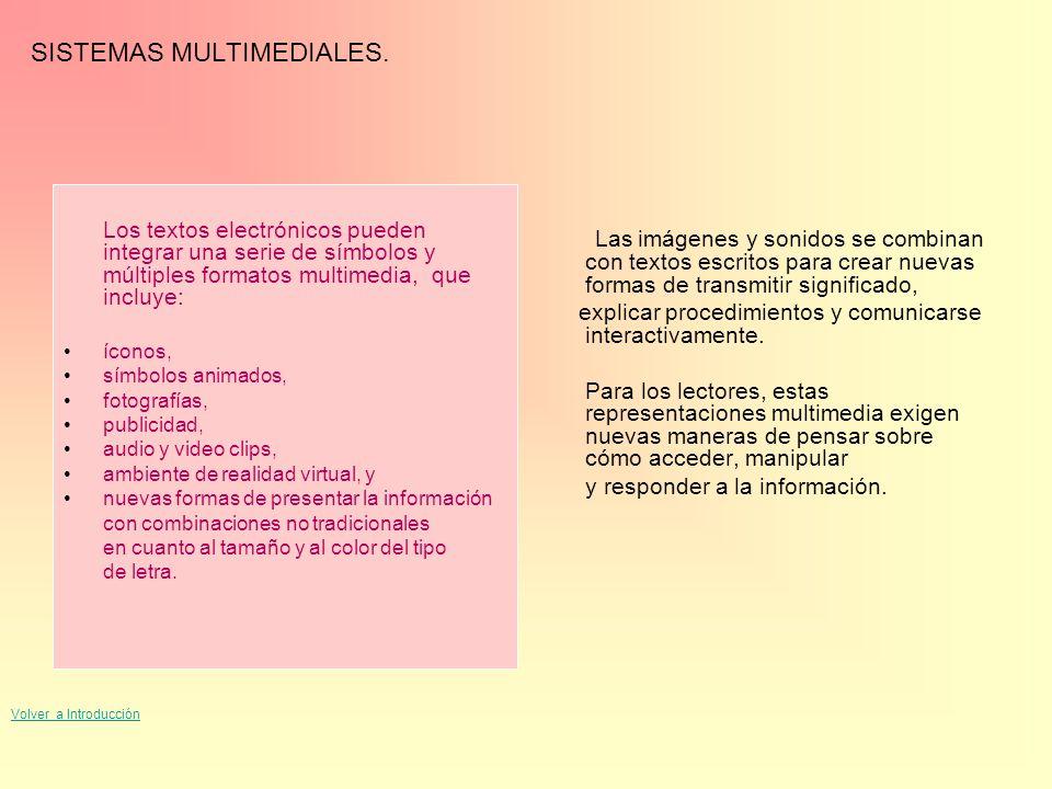 SISTEMAS MULTIMEDIALES.