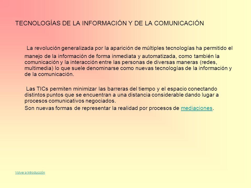 TECNOLOGÍAS DE LA INFORMACIÓN Y DE LA COMUNICACIÓN