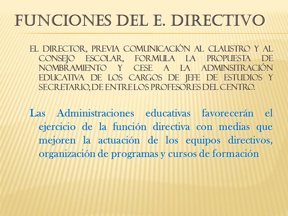 Funciones del e. directivo