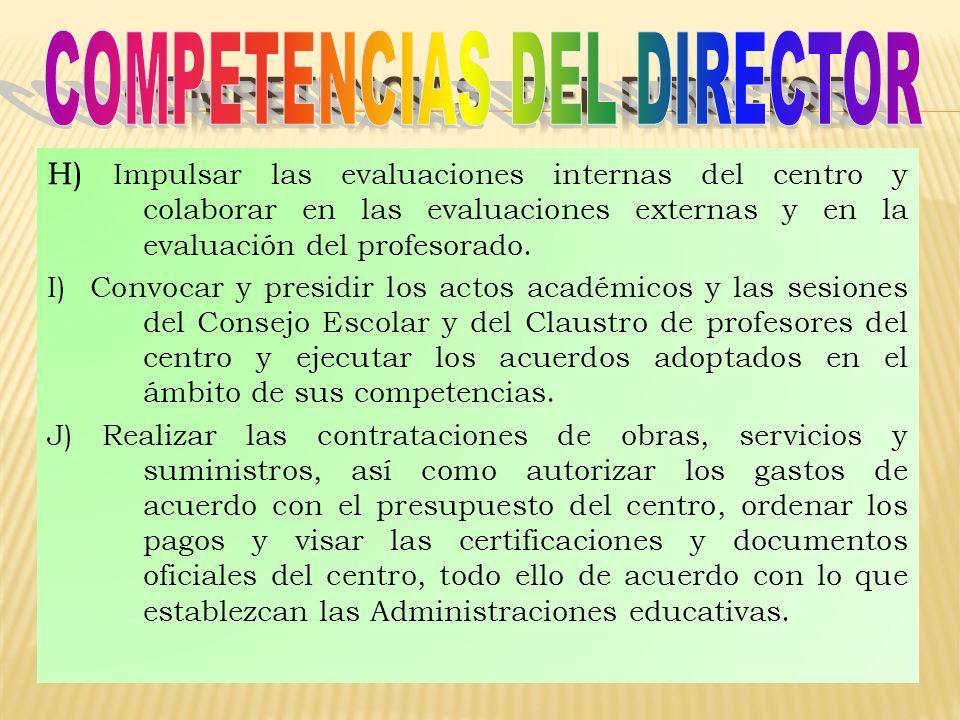 COMPETENCIAS DEL DIRECTOR