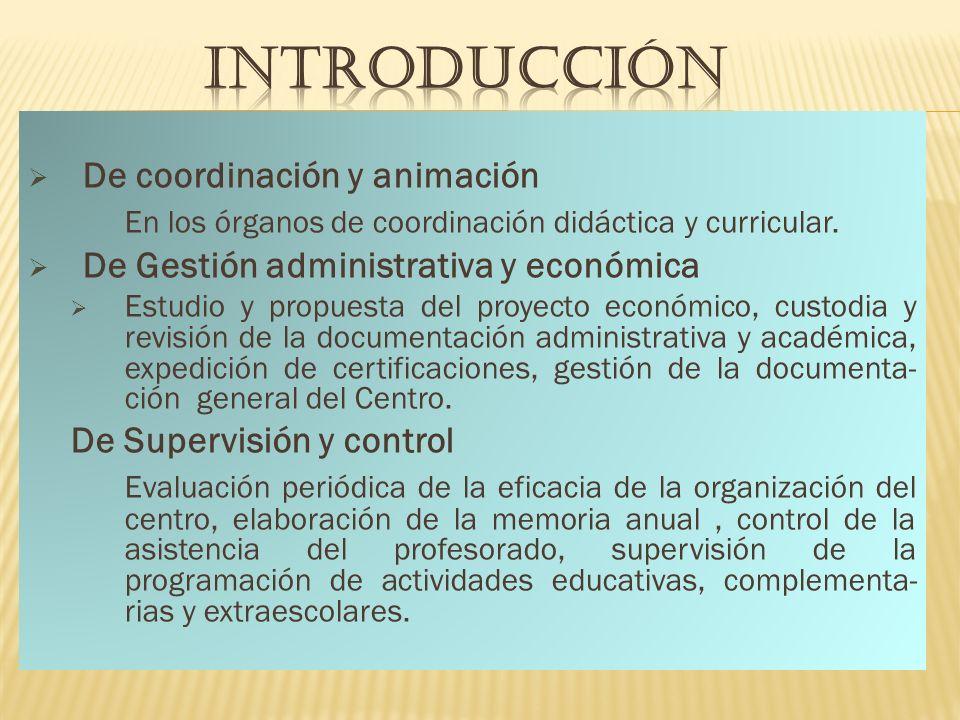 INTRODUCCIÓN De coordinación y animación