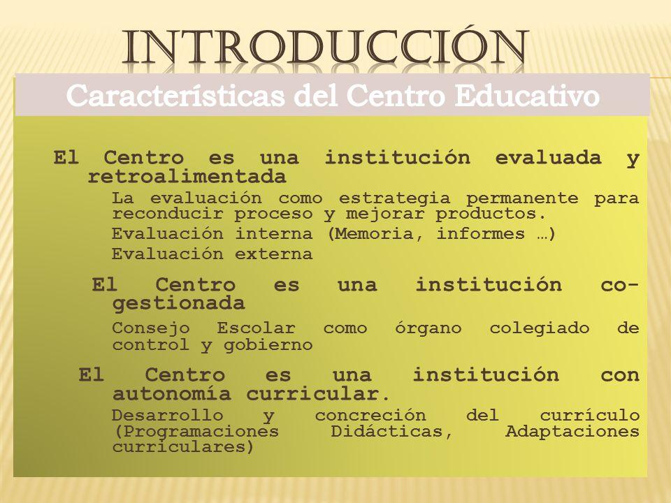 Características del Centro Educativo