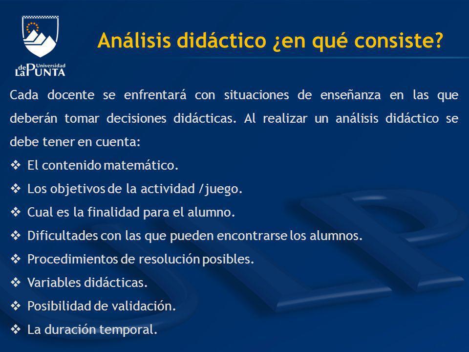 Análisis didáctico ¿en qué consiste