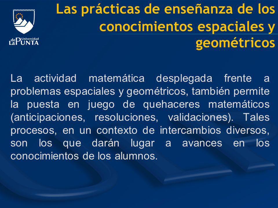 Las prácticas de enseñanza de los conocimientos espaciales y geométricos