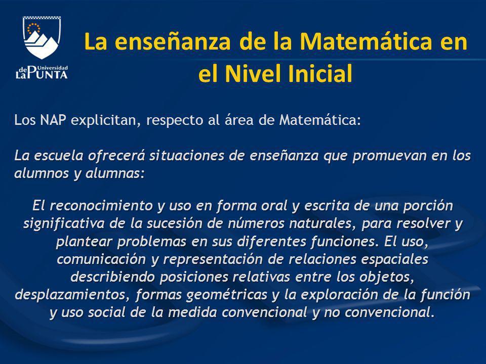 La enseñanza de la Matemática en el Nivel Inicial
