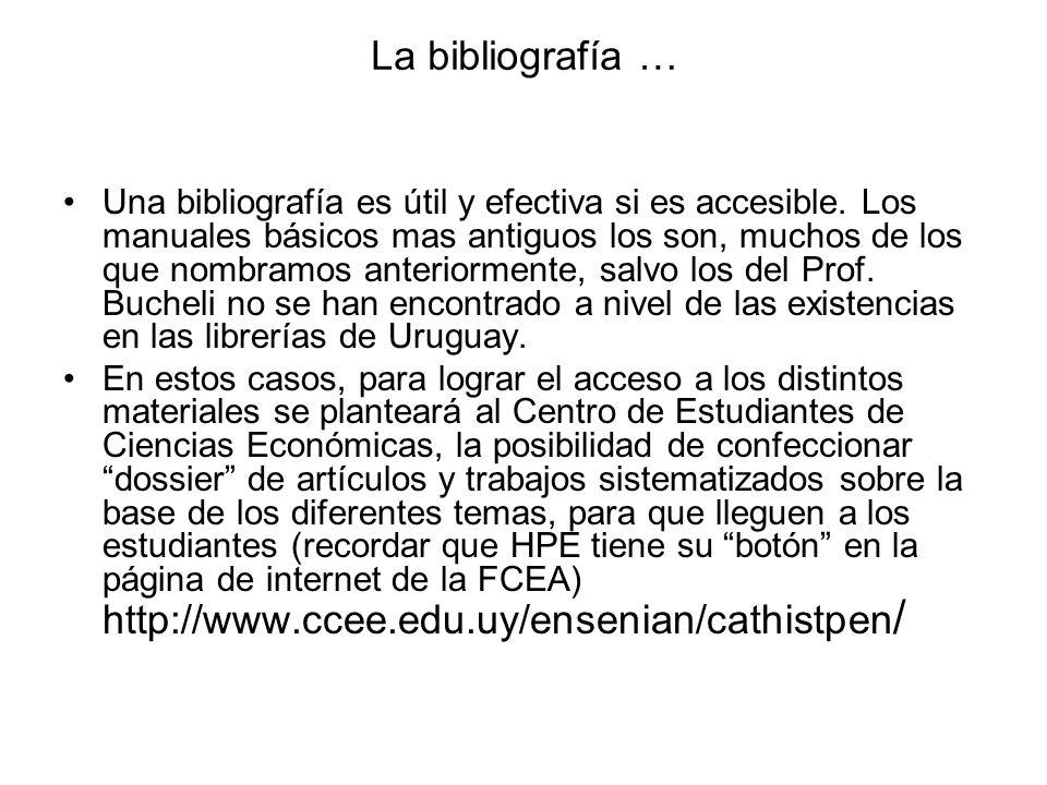 La bibliografía …
