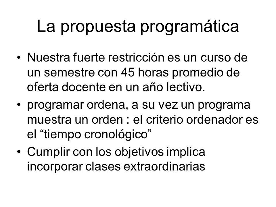 La propuesta programática