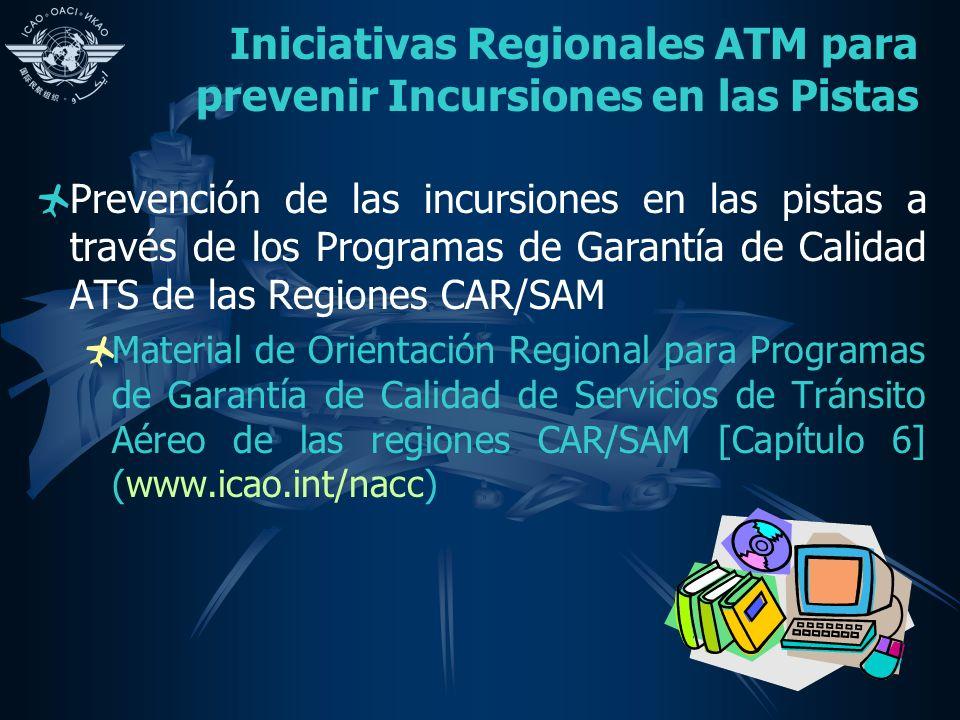 Iniciativas Regionales ATM para prevenir Incursiones en las Pistas