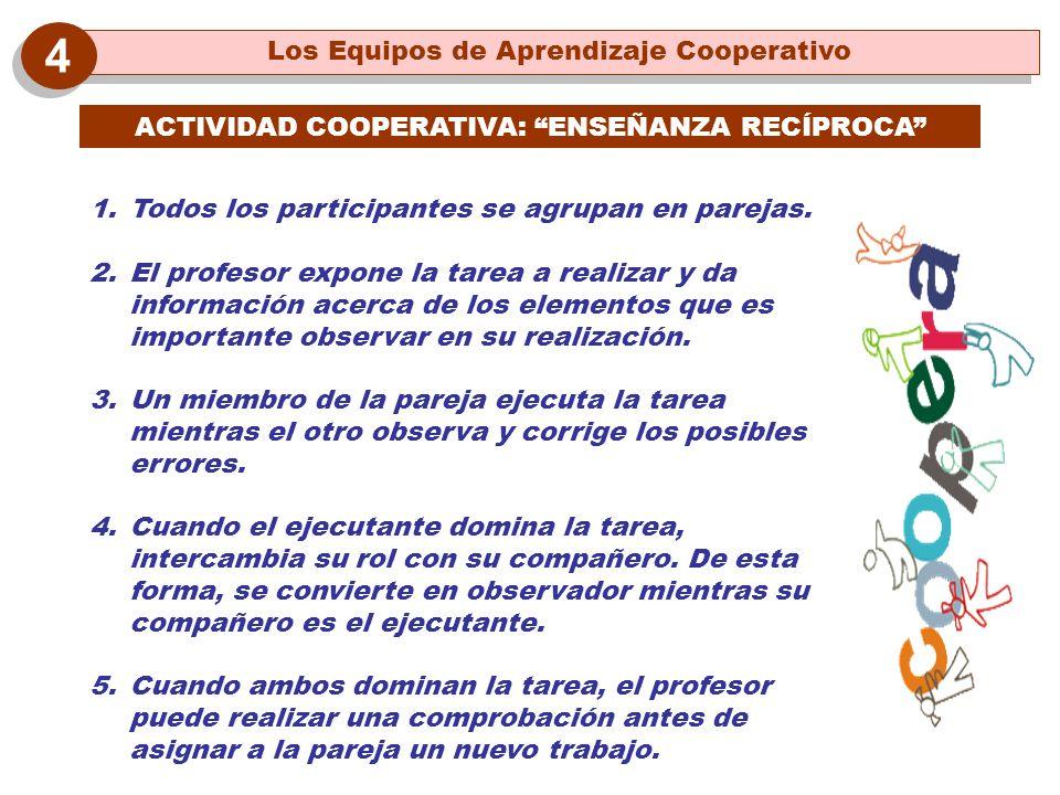 4 Los Equipos de Aprendizaje Cooperativo