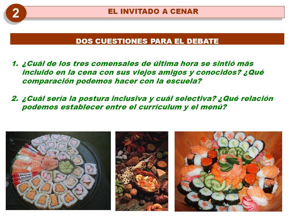 DOS CUESTIONES PARA EL DEBATE