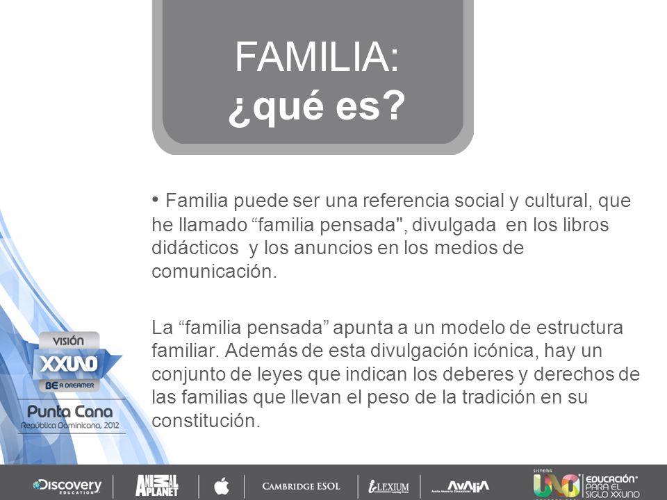 FAMILIA: ¿qué es
