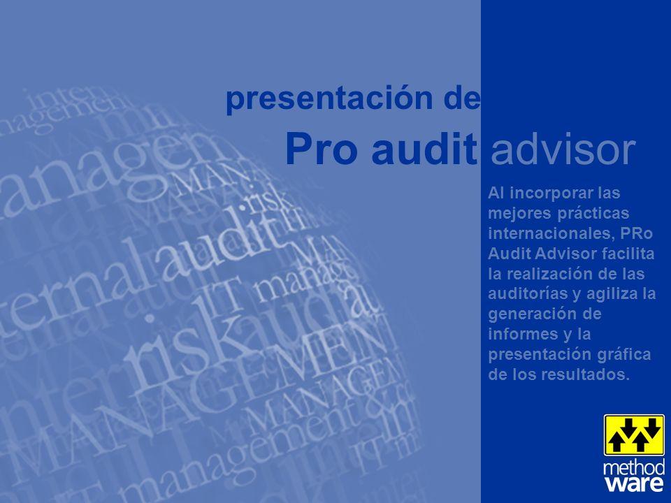 Pro audit advisor presentación de w w w . m e t h o d w a r e . c o m