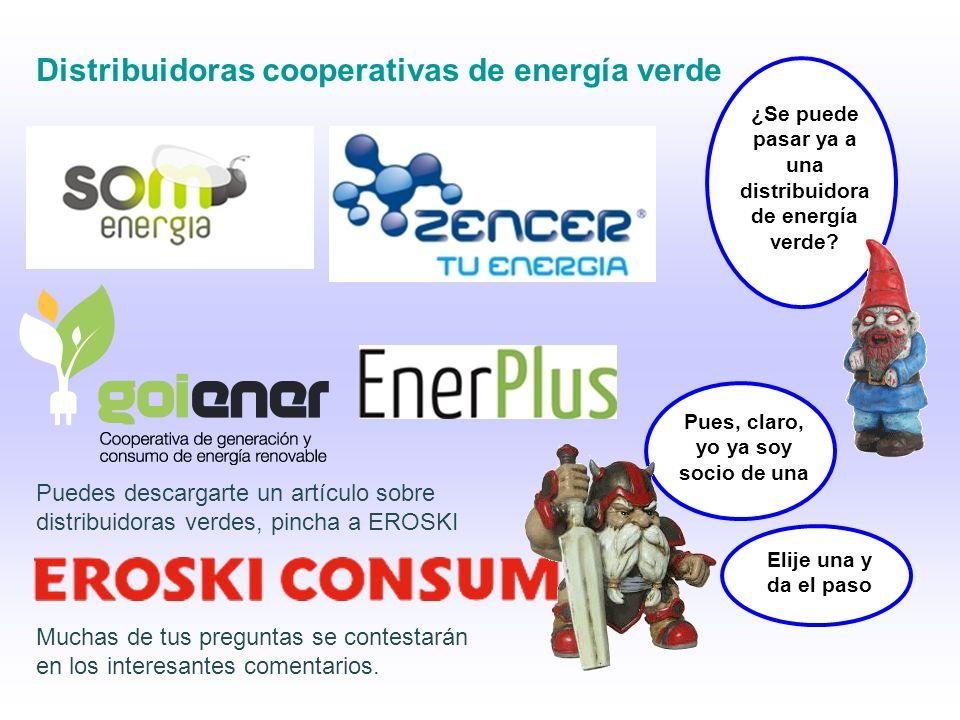 Distribuidoras cooperativas de energía verde