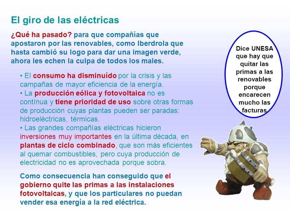 El giro de las eléctricas