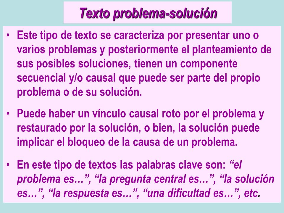 Texto problema-solución