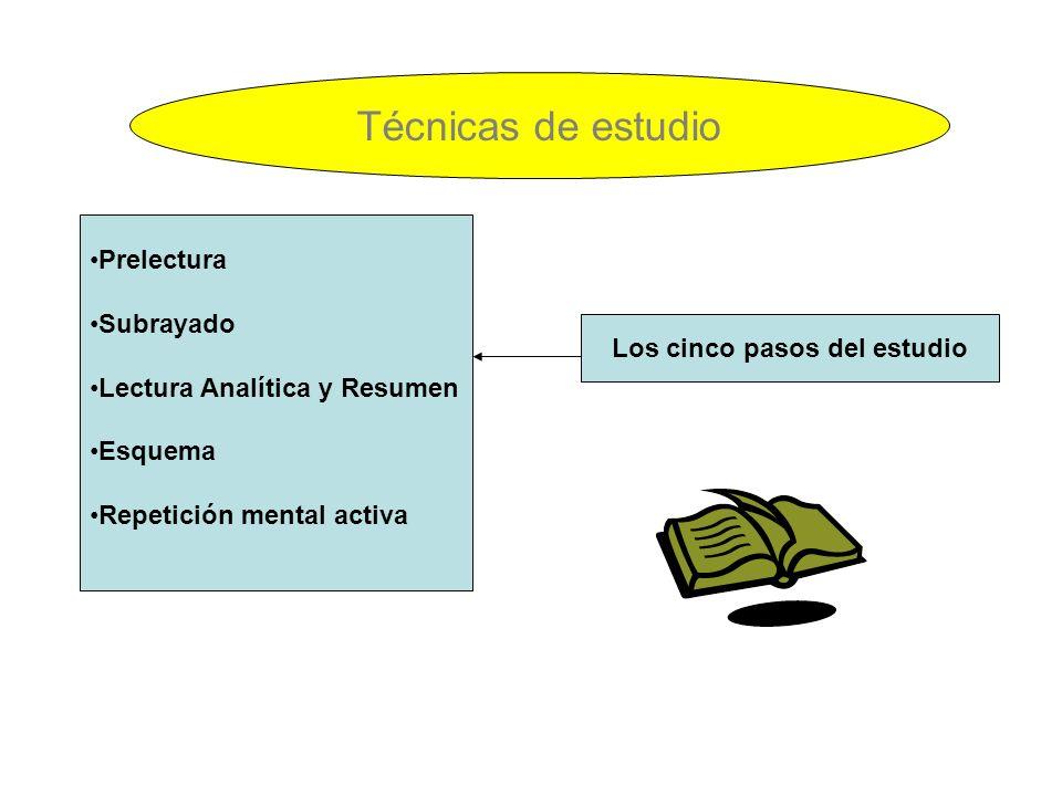 Los cinco pasos del estudio