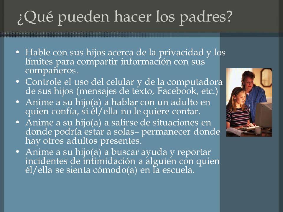 ¿Qué pueden hacer los padres