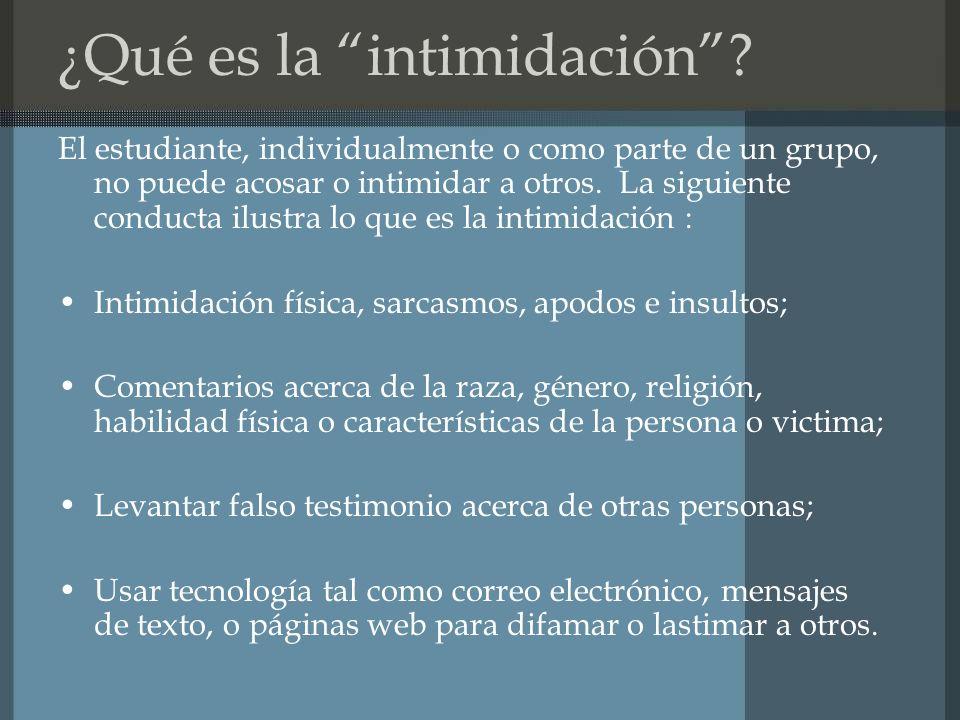 ¿Qué es la intimidación