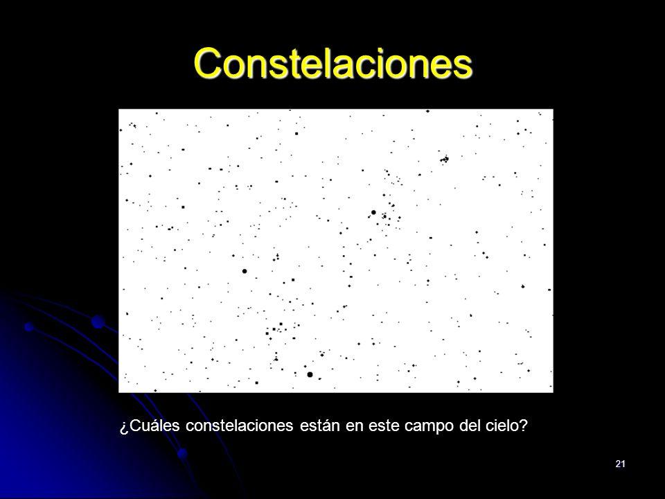 Constelaciones ¿Cuáles constelaciones están en este campo del cielo
