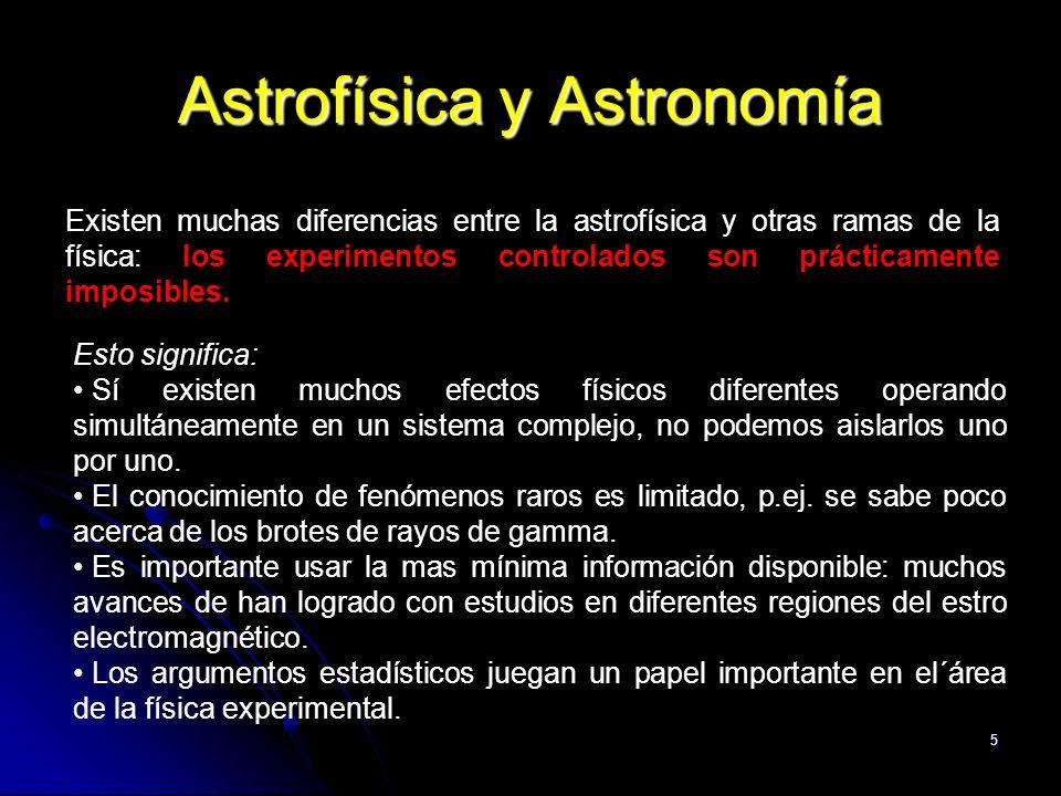 Astrofísica y Astronomía