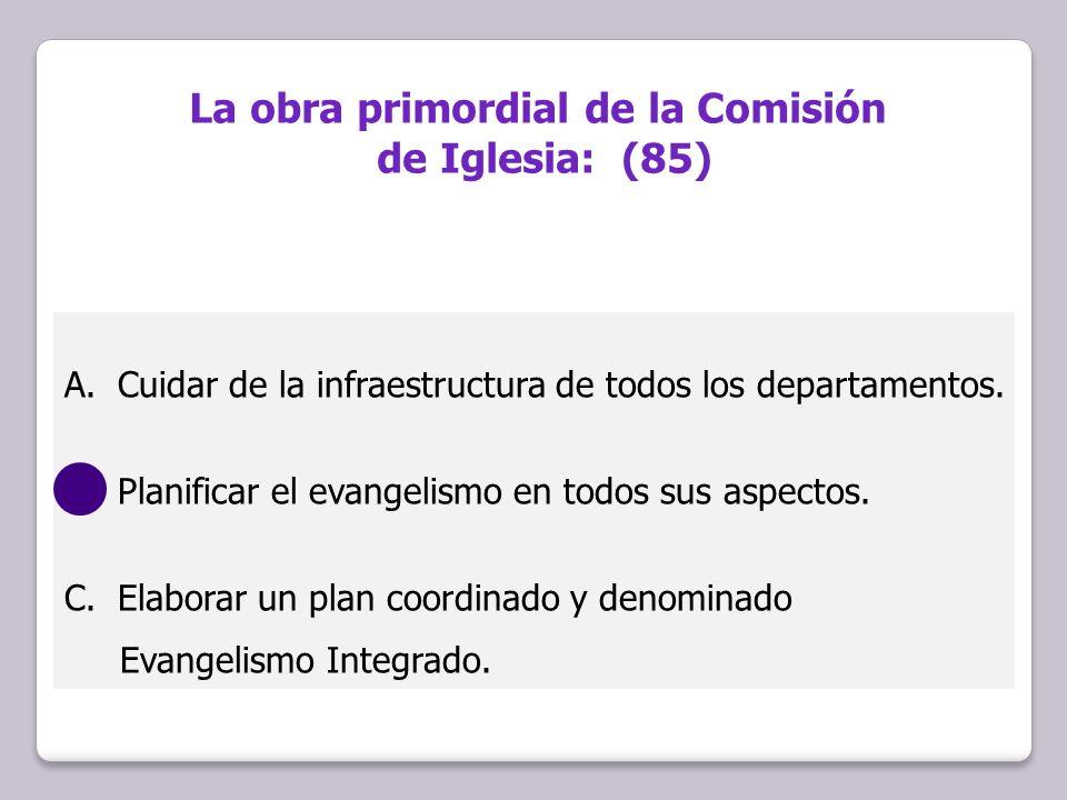 La obra primordial de la Comisión