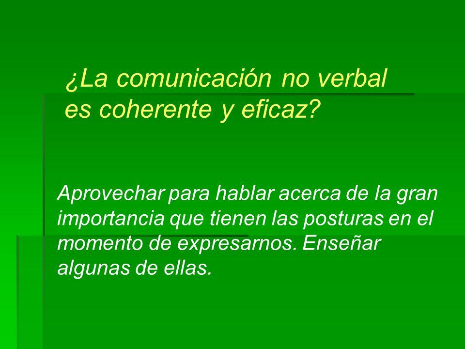 ¿La comunicación no verbal es coherente y eficaz