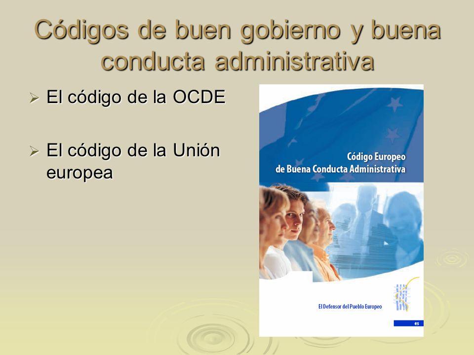 Códigos de buen gobierno y buena conducta administrativa