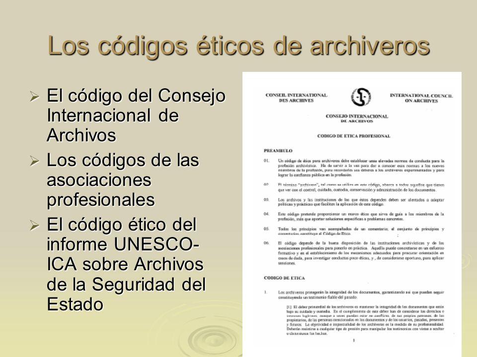 Los códigos éticos de archiveros
