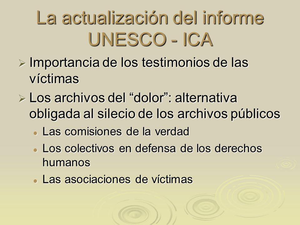 La actualización del informe UNESCO - ICA