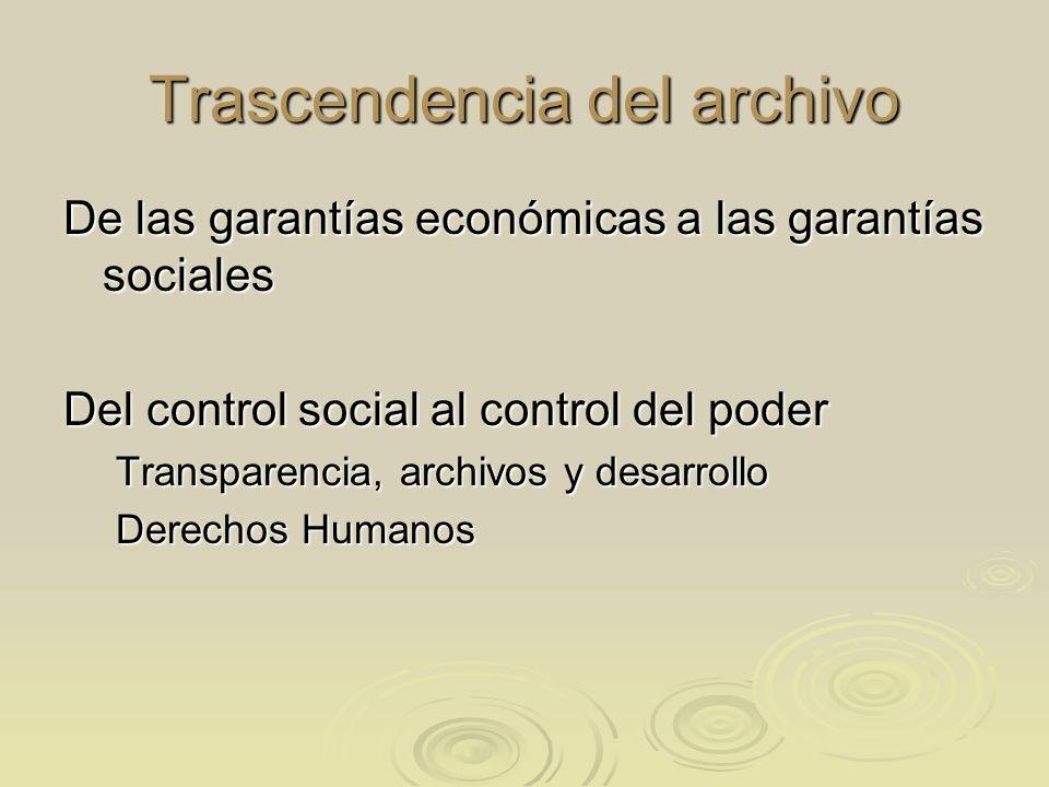 Trascendencia del archivo